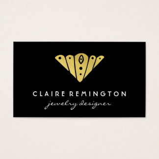 Minimalist Art Deco | Faux Gold Foil Business Card