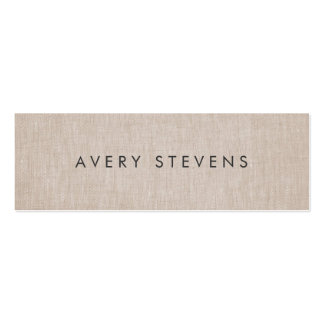 Minimalist Artist Simple Plain Linen Pack Of Skinny Business Cards