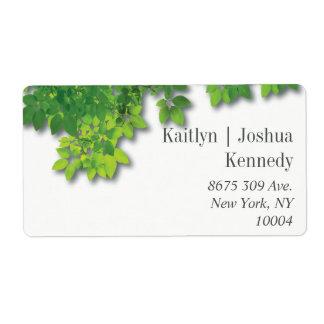 Minimalist Autumn Oak Wedding Address