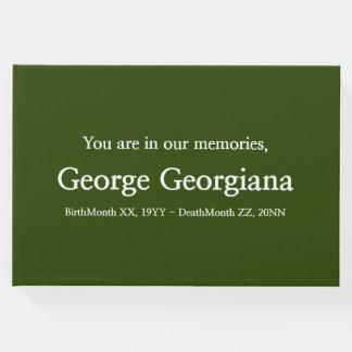Minimalist & Basic Funeral/Memorial Guest Book