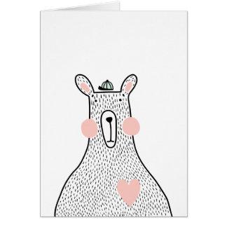 Minimalist bear card