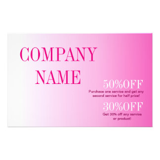 Minimalist beauty cosmetology blush pink ombre flyer
