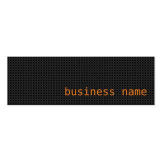Minimalist Black and Orange Business Card