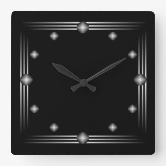 Minimalist Black and Silver Wall Clock