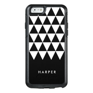 Minimalist Black and White Triangle Geometric OtterBox iPhone 6/6s Case
