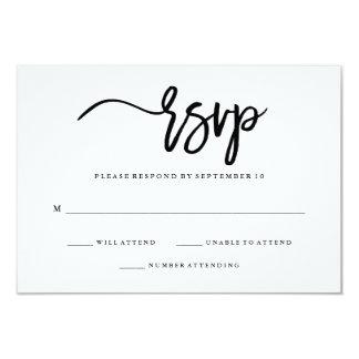 Minimalist Black and White Typography RSVP Card