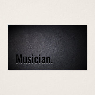 Minimalist Black Bold Musician Business Card