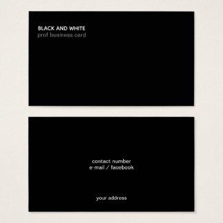 minimalist black modern professional business card