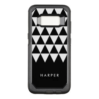 Minimalist Black Name White Triangle OtterBox Commuter Samsung Galaxy S8 Case