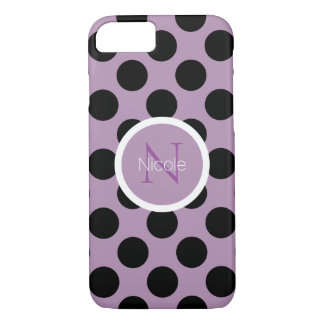 Minimalist Black polda dots iPhone 7 Case