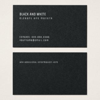 minimalist black premium pro business card