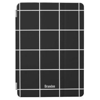 Minimalist Black & White Custom Name iPad Cover