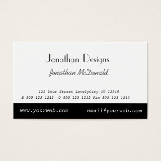 Minimalist Black White Minimal Simple Business Card