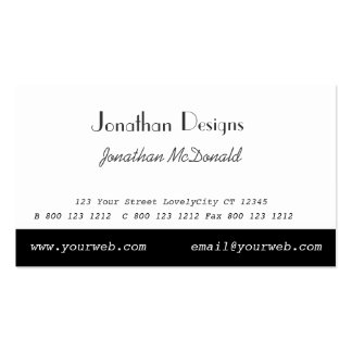 Minimalist Black White Minimal Simple Pack Of Standard Business Cards