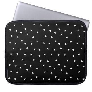 Minimalist Black & White Pattern Laptop Sleeve