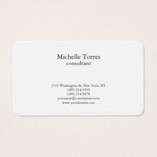 Minimalist Black & White Plain Creative Modern Business Card