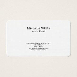 Minimalist Black & White Plain Simple Modern Business Card