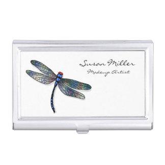 Minimalist Blue Dragonfly Business Card Holder