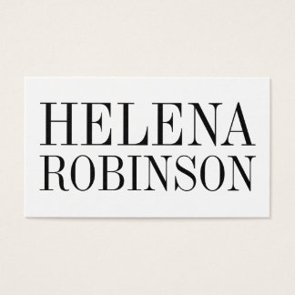Minimalist bold black and white business card