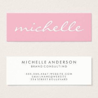 Minimalist Bold Cursive Text Mini Business Card