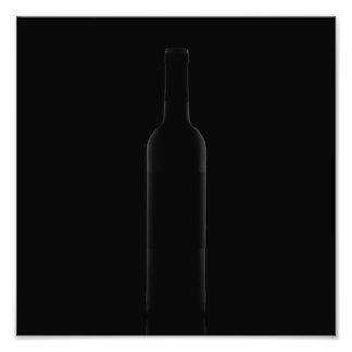 Minimalist Bottle of Wine Photograph