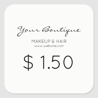 Minimalist Boutique Price Tag