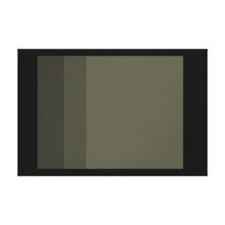 Minimalist Canvas Art Black French Grey Minimalism Stretched Canvas Print