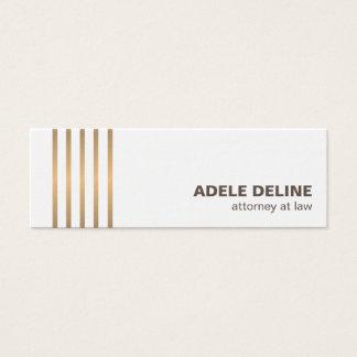Minimalist Chic Clean Copper Lines Attorney Mini Business Card