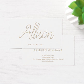 Minimalist Chic Elegant Calligraphy Script Business Card