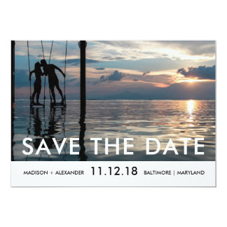 Minimalist Chic Save The Date Photo Card