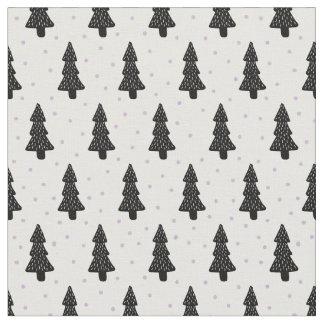 Minimalist Christmas tree Fabric