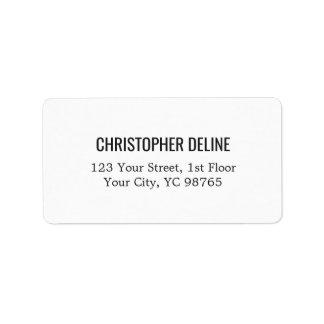 Minimalist Classic Elegant White Label Address Label