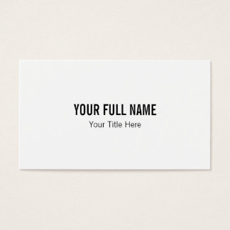 Minimalist Clean Simple Plain Business Card White