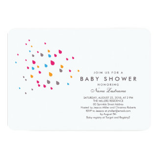 Minimalist Colorful Baby Shower Invitation Rounded
