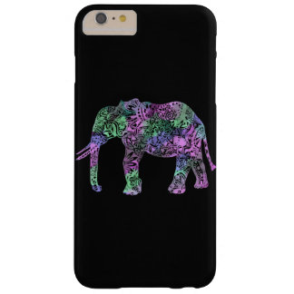 minimalist colorful tribal floral neon elephant barely there iPhone 6 plus case
