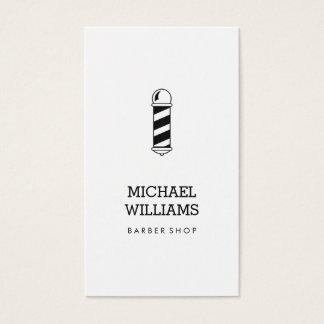 Minimalist Cool Modern Barber Shop Business Card