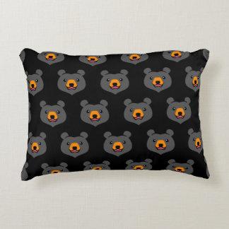 Minimalist Cute Black Bear Cartoon Decorative Cushion