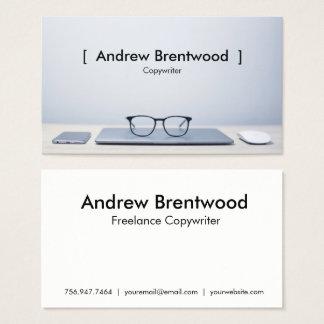 MInimalist Desk Photo Business Card