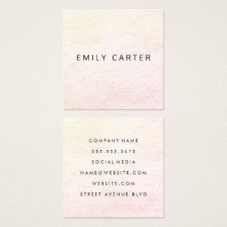 Minimalist Distressed Square Business Card