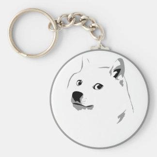 Minimalist dogecoin keyfob key ring