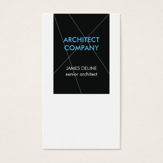 Minimalist Elegant Architect Business Card