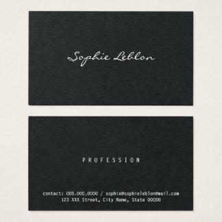 minimalist elegant black and white business card