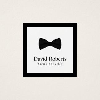 Minimalist Elegant Black Bow Tie Modern Square Business Card