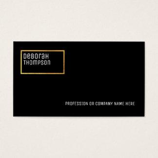 minimalist elegant black pro business card