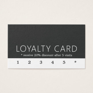 Minimalist Elegant Black White Loyalty Card