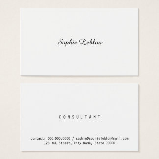minimalist elegant business woman business card