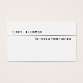 minimalist elegant classic white and clean pro business card