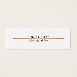 Minimalist Elegant Copper Line Attorney Mini Business Card