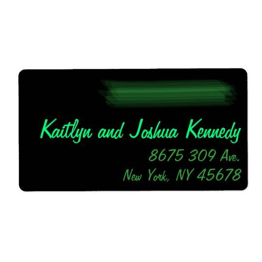 Minimalist Elegant Emerald Green Mint  Address