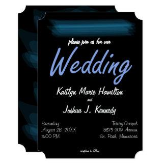 Minimalist Elegant Glowing Gothic Wedding Card